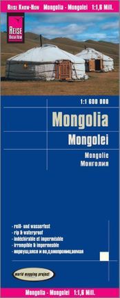 Reise Know-How Landkarte Mongolei 1 : 1.600.000