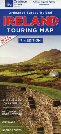 Os Map Of Ireland.Knyga Touring Map Ireland 1 450 000 Knygos Lt