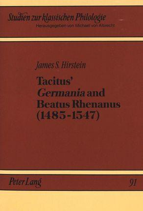 Tacitus' «Germania» and Beatus Rhenanus (1485-1547)