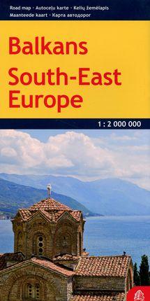 Balkanų kelių žemėlapis (išlankstomas). Pietryčių Europa.