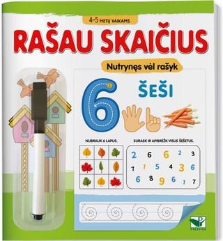 Rašau skaičius: 4-5 metų vaikams
