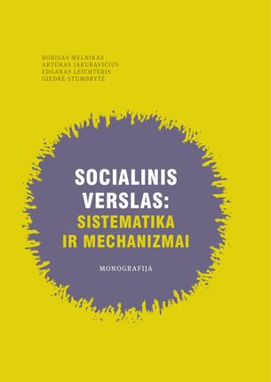 Socialinis verslas: sistematika ir mechanizmai