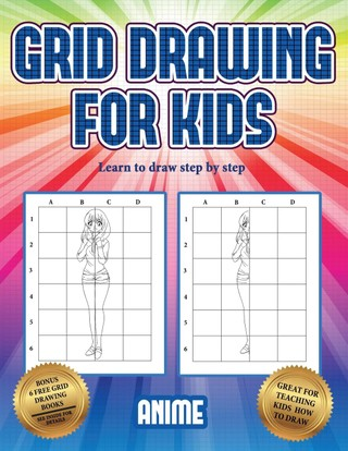 Learn to draw step by step (Grid drawing for kids - Anime)