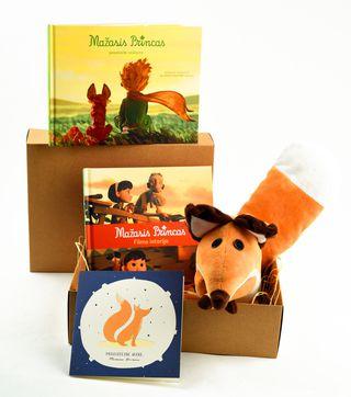 Didysis rinkinys dovanų MAŽASIS PRINCAS: pasakaitė vaikams + filmo istorija + pliušinė lapė + atvirukas: prisijaukink mane (pridedama NEMOKAMAI!) dailioje dėžutėje