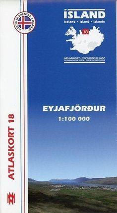 Island Atlaskort 18 Eyjafjördur 1:100.000