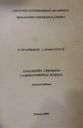 Analizinės chemijos laboratoriniai darbai