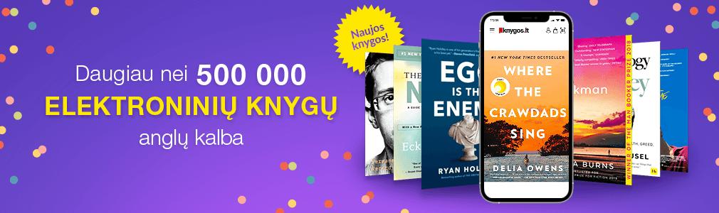 500 000 elektroninių knygų anglų ir lietuvių kalbomis