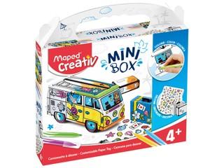 Konstruktorius - spalvinimo rinkinys MAPED MINI BOX mikroautobusas