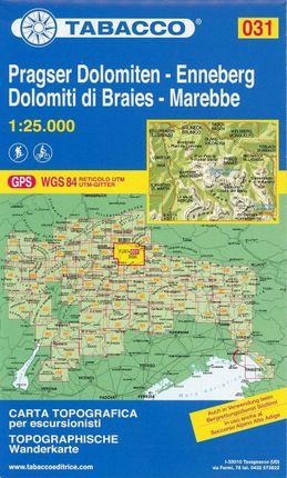 Tabacco Wandern 1 : 25 000 Pragser Dolomiten - Enneberg