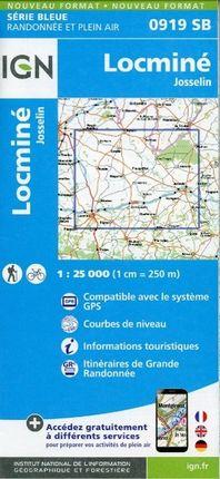 Locmine GPS 1 : 25 000 Carte Topographique Serie Bleue Itineraires de Randonnee