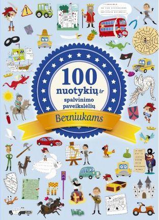 100 nuotykių ir spalvinimo paveikslėlių berniukams