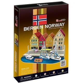 3D dėlionė: Bergen Norway