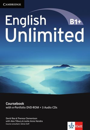 English Unlimited B1+ -Intermediate / Coursebook with e-Portfolio DVD-ROM + 3 Audio-CDs