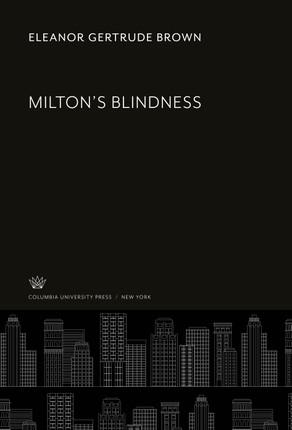 Milton'S Blindness