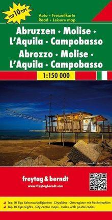 Abruzzen - Molise - L'Aquila - Campobasso 1 : 150 000