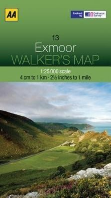 Walker's Map 13 Exmoor 1 : 25 000