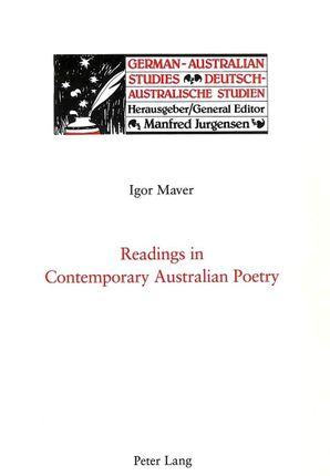 Readings in Contemporary Australian Poetry