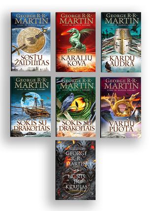 7 knygų rinkinys SOSTŲ KARAI: sostų žaidime - pergalė arba mirtis!