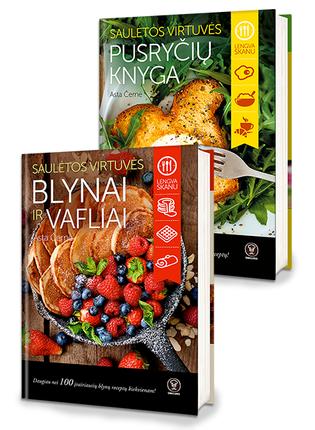 Astos Černės Saulėtos virtuvės bestseleriai:  Blynai ir vafliai + Pusryčių knyga