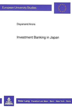 Investment Banking in Japan