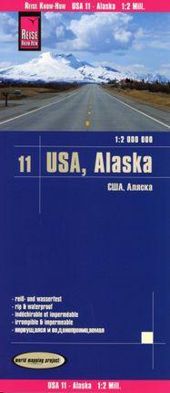 Reise Know-How Landkarte USA 11, Alaska (1 : 2.000.000)