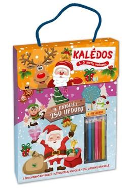 Kalėdos: daug veiklos visam kalėdiniam laikotarpiui. 4 knygelės, 250 lipdukų