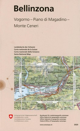 Swisstopo 1 : 25 000 Bellinzona
