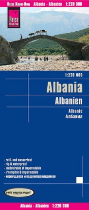 Reise Know-How Landkarte Albanien 1 : 220.000