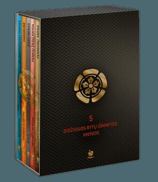 5 DIDŽIOSIOS RYTŲ IŠMINTIES KNYGOS (su dėžute): Permainų knyga, Nesupančiotas protas, Karo menas, Hagakurė, Penkių žiedų knyga