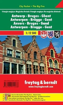 Antwerpen - Brügge - Gent - Magisches Dreieck 1 : 12 500 City Pocket