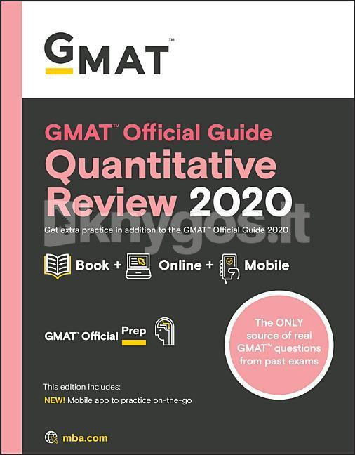 2020 Year In Review.Knyga Gmat Official Guide 2020 Quantitative Review Book