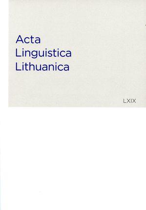 Acta Linguistica Lithuanica 69