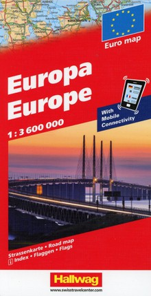 Europa Strassenkarte, With Mobile Connectivity 1 : 3 600 000