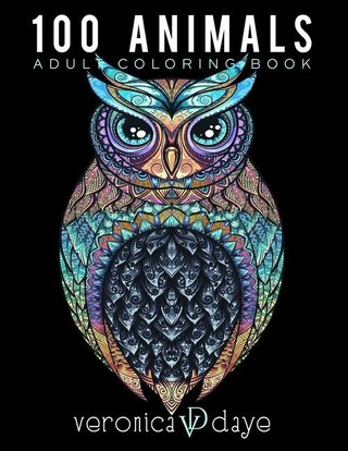 100 Animals Adult Coloring Book: Relaxing, Calming, Stress Relieving Designs