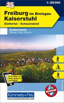 KuF Deutschland Outdoorkarte 25 Freiburg im Breisgau - Kaiserstuhl 1 : 35.000