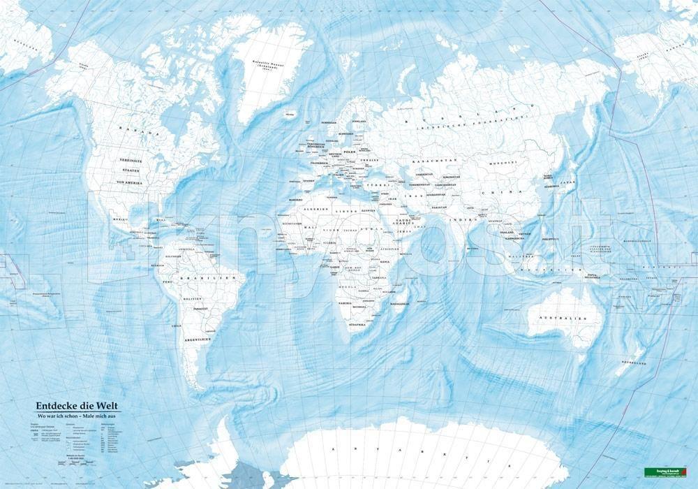 Die Welt Karte.Knyga Weltkarte Zum Ausmalen Entdecke Die Welt Poster 1 40
