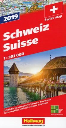Schweiz 2019 Strassenkarte 1:303 000