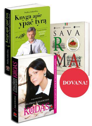 Pajuskite Italiją: Knyga apie ypač tyrą. Pirmasis lietuviškas alyvuogių aliejaus vadovėlis +  ITALIŠKOS ELEGANCIJOS KODAS. Paslaptys gyvenimą ir madą mylinčiai moteriai +  SAVA ROMA DOVANŲ!