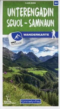 Unterengadin / Scuol - Samnaun 24 Wanderkarte 1:40 000 matt laminiert