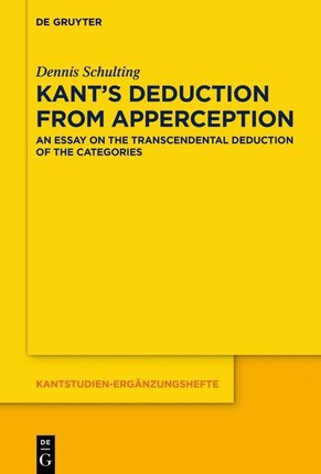 Kant's Deduction From Apperception