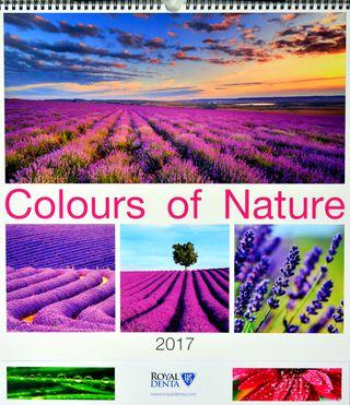 2017 metų sieninis kalendorius Colours of Nature su dovana