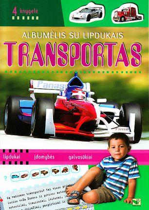 Albumėlis su lipdukais. Transportas (4 knygelė)