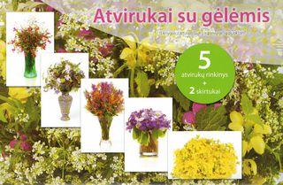 Atvirukai su gėlėmis (geltoname vokelyje)