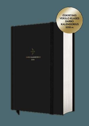 2018 m. DARBO KALENDORIUS: kokybiška, solidi, moderni ir itin patogi verslo klasės darbo knyga – išskirtinis dienos, savaitės, mėnesio tikslų, užduočių ir darbų planuoklis, citatos įkvėpimui ir gausūs priedai