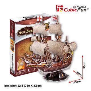 """3D dėlionė: laivas """"May Flower"""""""