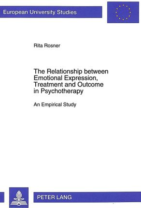 The Relationship between Emotional Expression, Treatment and Outcome in Psychotherapy