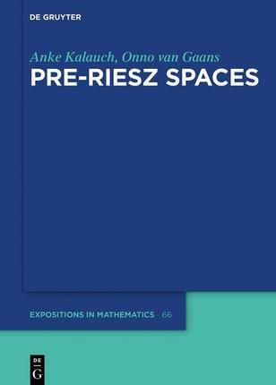 Pre-Riesz Spaces
