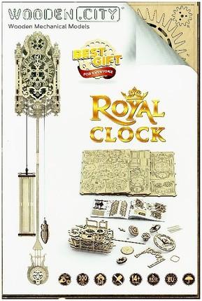 3D medinė dėlionė Karališkas laikrodis