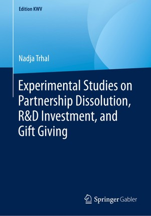 Experimental Studies on Partnership Dissolution, R&D Investment, and Gift Giving