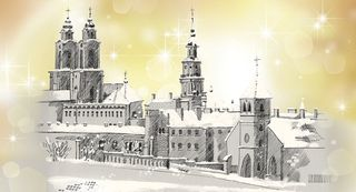 Kalėdinis sveikinimo atvirukas su voku (Kaunas)